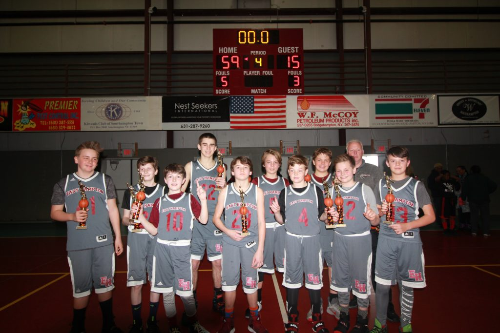 SYS Hoops 5th & 6th GR Boys winners East Hampton